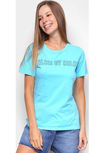 Camiseta Colcci Estampada Feminina - Feminino-Azul Petróleo