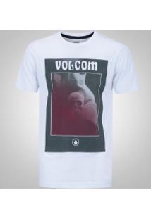 Camiseta Volcom Silk Slim Deadly - Masculina - Branco b21ed6864de51