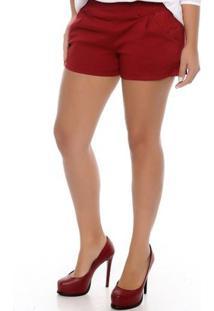 Shorts Curto Lauren B'Bonnie - Feminino-Vinho