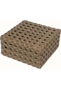 Mesa De Apoio Florença Para Área Externa Fibra Sintética Estrutura Alumínio Eco Friendly Design Scaburi