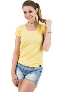 Camiseta Básica Feminina - Feminino-Amarelo