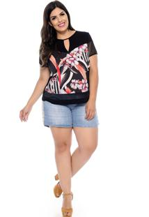 T-Shirt Elegance All Curves Sublimada Plus Size Yasmin