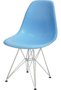 Cadeira Eames Polipropileno Azul Claro Base Cromada - 14908 Sun House