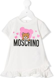 Moschino Kids Vestido Teddy Bear - Branco