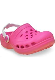 Babuche Fem Infantil Sunway 101C9 Pink/Branco