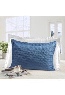 Porta Travesseiro Ultrasonic Petit- Azul- 70X50Cm