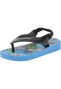 Chinelo Infantil Baby Polly E Max Steel Ipanema - 26349 Azul 19