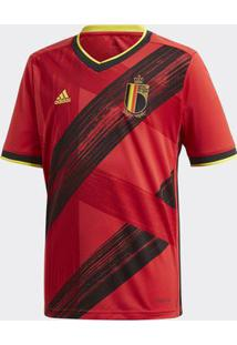 Camisa Adidas Bélgica 2019/2020 I Infantil Vermelha