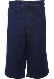 Bermuda Jeans Fatal Reta Pespontos Azul - Kanui