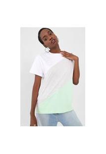 Camiseta Tricats Color Block Cinza/Verde