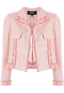 Paule Ka Jaqueta De Tweed Cropped - Rosa