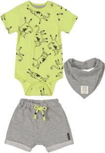 Conjunto Bebê Menino 3 Peças Verde