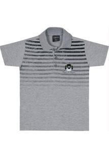 Camisa Polo Menino Cinza