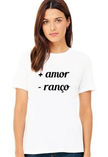 Camiseta Suffix Branca Estampa Amor - Ranço