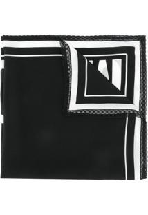 Moschino Cachecol Couture Com Logo - Preto