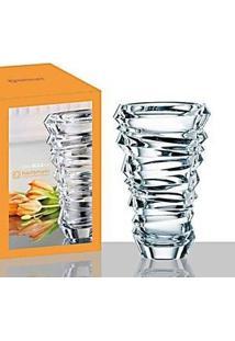 Vaso Decorativo 28Cm Cristalin Incolor Nachtmann Slice