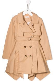 Chloé Kids Trench Coat Com Cinto - Neutro