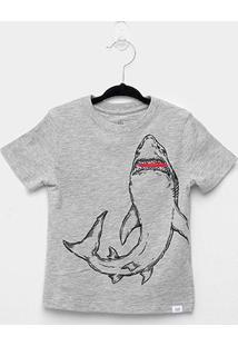 Camiseta Infantil Básica Tubarão Masculina - Masculino
