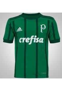 Camisa Do Palmeiras I 2017 Adidas - Infantil - Verde
