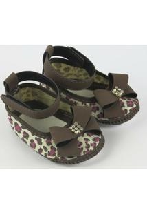 Sapato Bebê Feminino Vermelho Zebrinha-P - Feminino
