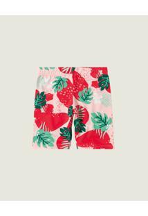 Bermuda Tropical Cotton Menina Malwee Kids Rosa Claro - 2