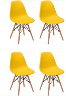 Kit Mpdecor 04 Cadeiras Eiffel Charles Eames Amarela