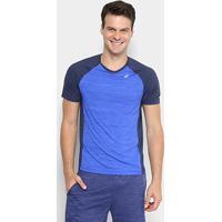 e303b0932a2eb Camiseta Asics Color Ss Masculina - Masculino-Azul+Marinho