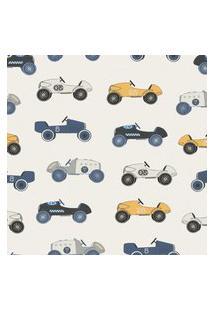 Papel De Parede Vintage Carros Para Quarto 57X270Cm