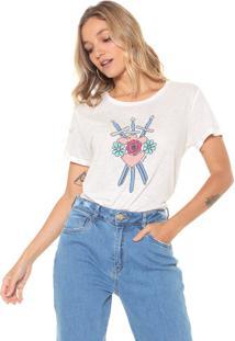 Camiseta Lez A Lez Bordada Off-White