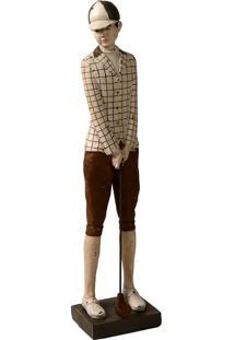 Escultura Decorativa De Resina Jogador De Golf V