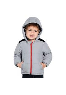 Jaqueta Infantil Masculina Com Capuz Rovitex Kids Cinza