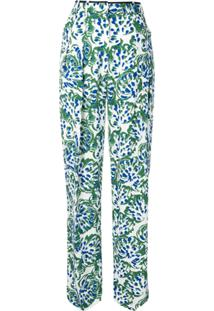 Victoria Victoria Beckham Calça De Pijama Floral - Verde