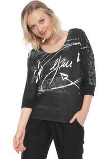 Camiseta Desigual Suzel Preta