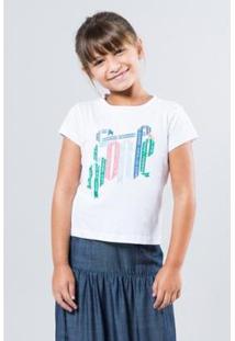 Camiseta Infantil Sorte Reserva Mini Feminina - Feminino-Branco
