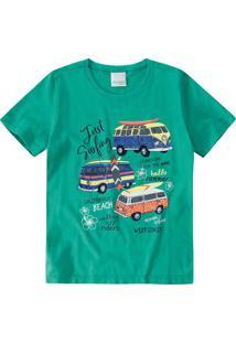 Camiseta Sustentável Estampada Sun Off Menino Malwee Kids
