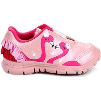 54a906b56 Tênis Infantil Ortopé Babado Flamingo Dna Light Feminino - Feminino-Rosa
