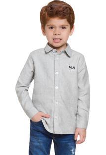 Camisa Infantil Masculina Mescla