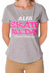 Camiseta Alfa Candy Skate All Day Mescla