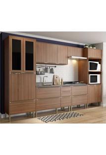 Cozinha Completa Multimã³Veis Com 6 Peã§As Calã¡Bria 5451 Nogueira - Incolor/Marrom - Dafiti