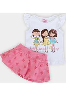 Conjunto Infantil For Girl Laise Best Friends 4 Ever Feminino - Feminino