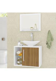 Armário De Banheiro Baden Branco/Marrom - Bechara Móveis