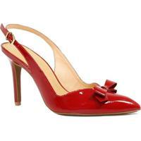 c5afb8b5b Sapato Zariff Shoes Chanel Laço - Feminino-Vermelho