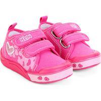 06a3ee88f Tênis Infantil Klin Toy Jeans Feminino - Feminino-Pink+Rosa