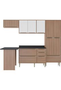 Cozinha Compacta Zerrin 11 Pt 3 Gv Nogueira E Branco