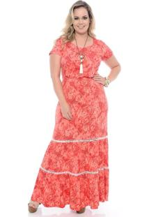 Vestido Vermelho Longo Plus Size