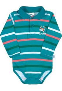 Body Bebê Meninoribana - Masculino-Verde Água