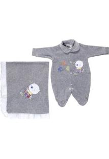 Enxoval Infantil Para Bebê Menino - Cinza