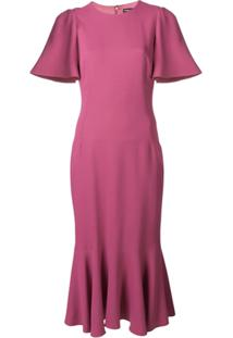 Dolce & Gabbana Vestido Com Detalhe De Pregas - Rosa