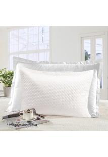Porta Travesseiro Ultrasonic Moderno- Branco- 70X50Csultan