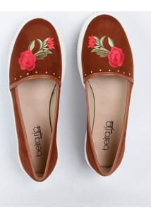 Tênis Feminino Flatform Bordado Floral Beira Rio